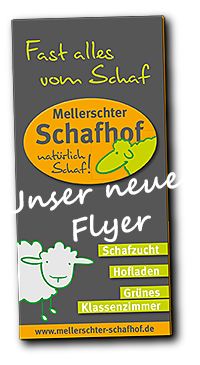 Flyer Mellerschter Schafhof mit Hofladen Seite 1 vorne - Download per Klick