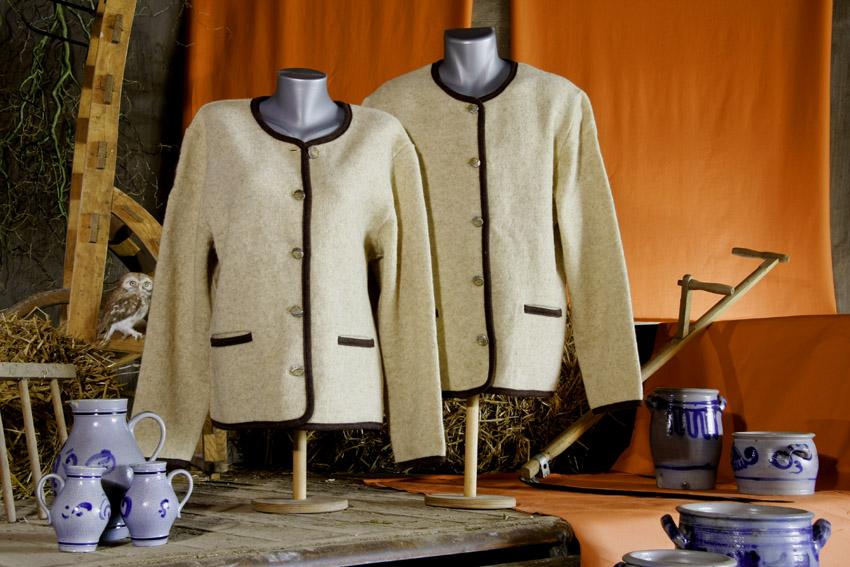 Walkwolljacke, Goldenes Flies, 100% Coburger Fuchsschafwolle