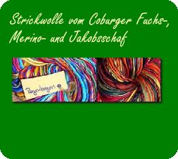 Banner Strickwolle vom Coburger Fuchsschaf, Merinoschaf und Jakobsschaf