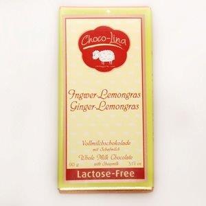 Laktosefrei Vollmilchschokolade Ingwer-Lemongras mit 100% Schafmilch