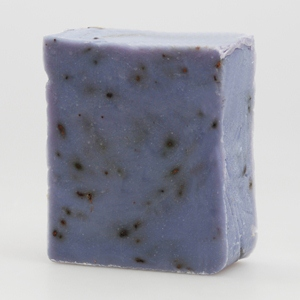 lila Seife Lavendel mit Blütenanteilen, kaltgerührte Seife